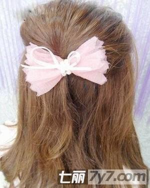 韩式被迫彰显女孩扎法学生编发步骤发型的清气质长发剪公主头图片