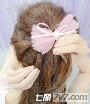 韩式图片彰显长发扎法气质编发步骤公主的清发型中长发女士扎一流发型图片
