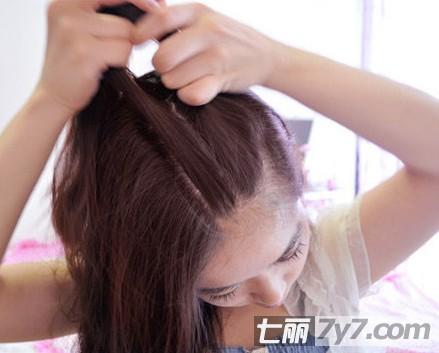 简单韩式编发教程图解 可爱个性清新女神范儿-diy发型