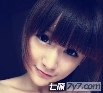 夏季平刘海短发发型 甜美修颜清新一夏