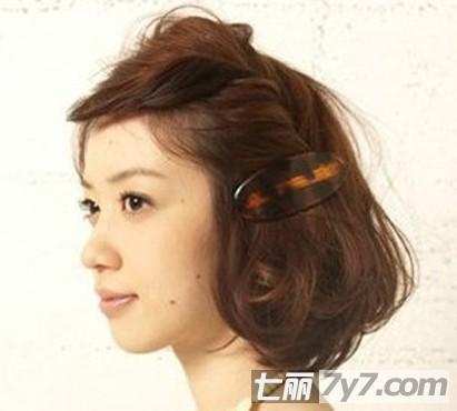 齐刘海短发编发图解 一分钟打造夏日复古风-diy发型