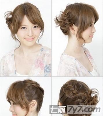 最新中短发怎么编发 5款甜美范中短发发型扎法