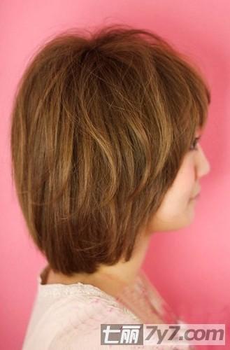 2012最新适合圆脸的短卷发发型图片 时尚修颜甜美又减龄  2012最新