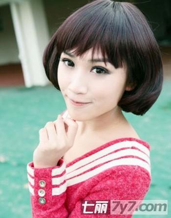 韩式短发荷叶头