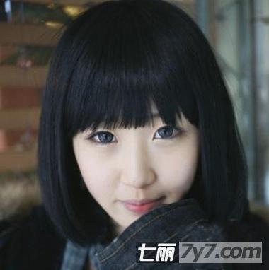 圆脸女生适合的修颜瘦脸发型 推荐2013年最新短发图片图片