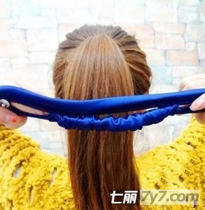 韩式蓬松丸子头扎法步骤图解