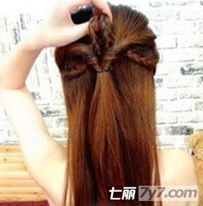 甜美淑女发型中长发扎法步骤图片