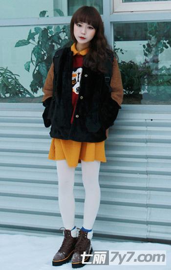 韩国女生冬季服装搭配法则 娇小女生显高搭配最吸晴