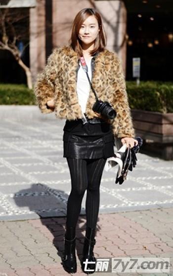 高个子女生冬季服装搭配技巧