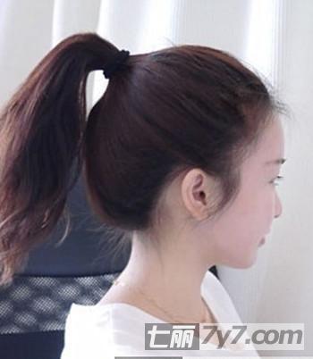 韩式蓬松丸子头扎法图解