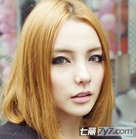 大脸圆脸适合的发型推荐 中长发烫发发型最显瘦图片