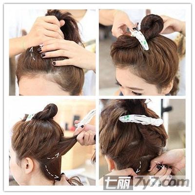 韩式清爽萝莉丸子头 圆脸mm适合的发型