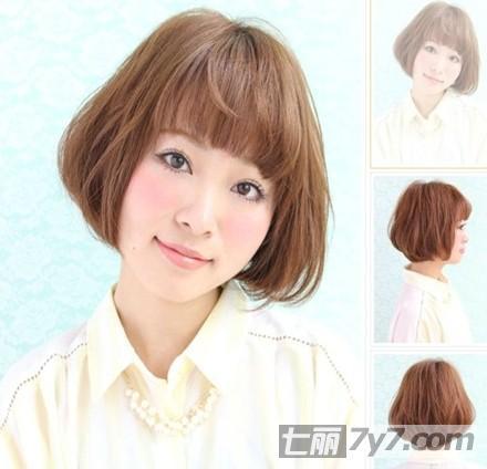 修颜齐刘海BOBO头短发发型 圆脸 大脸显瘦又清新