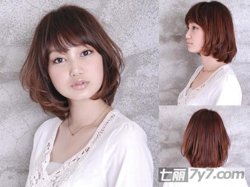 长脸方脸适合什么发型 清爽俏刘海短发今年最流行
