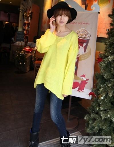 胖女生显瘦短款外套搭配 韩系针织衫 牛仔裤最甜美