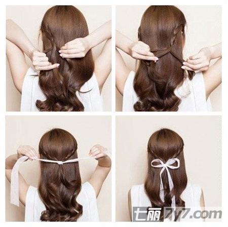 长发马尾辫发型扎法 路人变女神