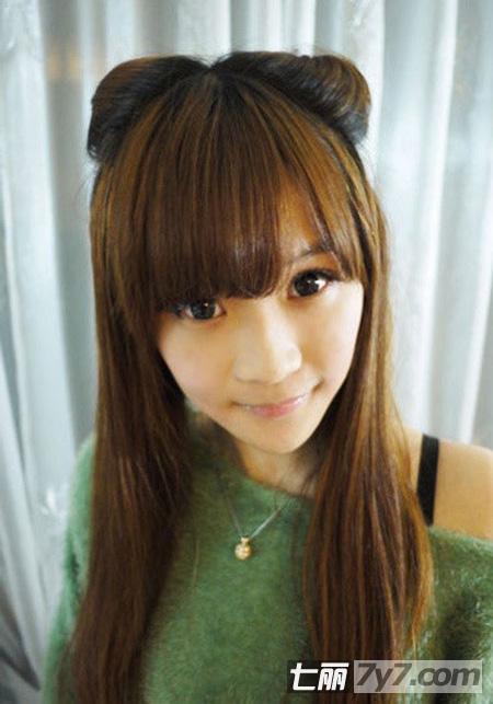 但是都会爱上日本女生的发型呢,这款日系发型的猫耳朵编发超级可爱哦图片