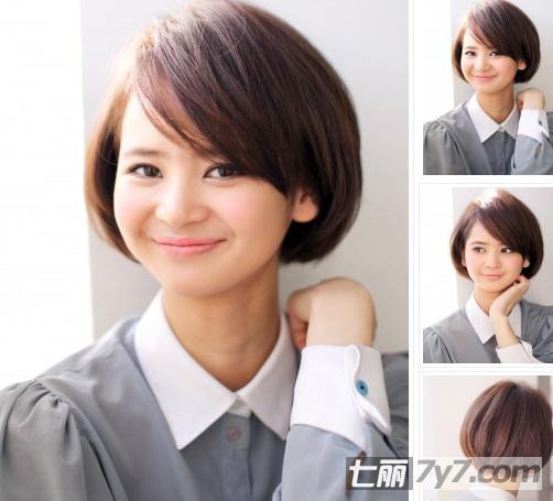 2014年减龄短发波波头发型 (502x455)图片