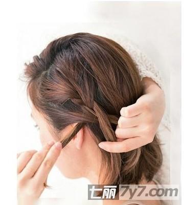 mm们一起看看新娘短发发型编发教程,简单步骤轻松展示另类妩媚气质.
