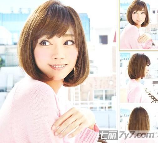 短发发型图片,让圆脸和胖脸女生们显瘦的最佳修颜术