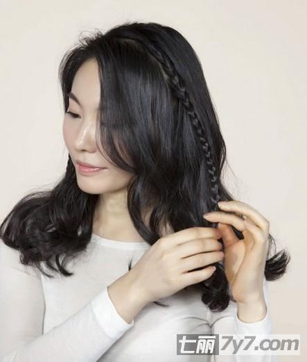 韩式长发盘发发型步骤