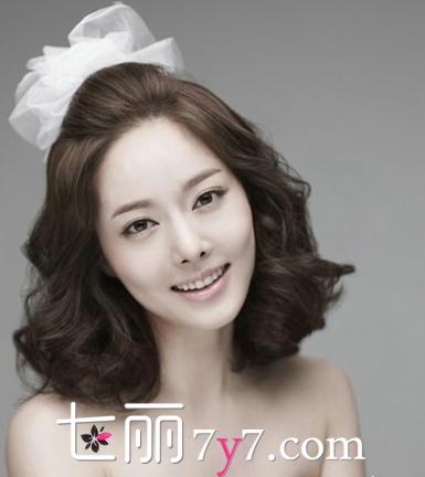 2014新娘发型设计图片 森系清纯韩式风发型