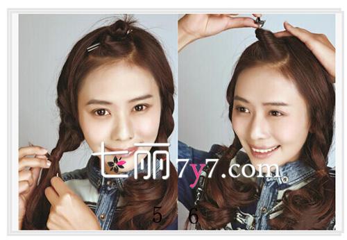 韩式减龄麻花辫编发发型