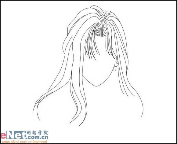 动漫少女头发素材