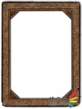 像框后面的阴影起到了给作品添加立体感,使之浮在纸张上的作用.