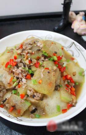 香菇肉末炒冬瓜