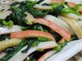 菠菜炒蟹棒