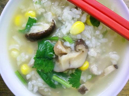 玉米蘑菇粥