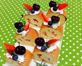 水果蛋糕卷装饰_【水果可可蛋糕卷】苦尽甘来的最美滋味_水