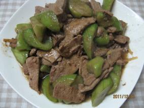 丝瓜炒猪肝