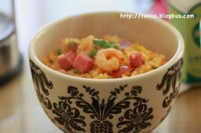 番茄虾仁蛋炒饭
