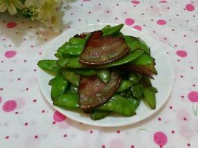 腊肉炒荷兰豆