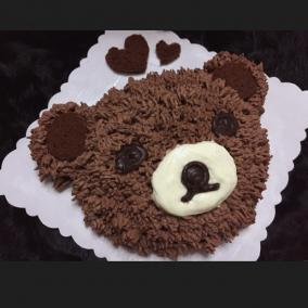 学做蛋糕后一直想等儿子生日时送宝贝个熊熊蛋糕!
