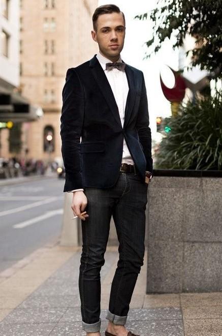 做時髦公子不做殺馬特 絲絨西裝穿搭訣竅
