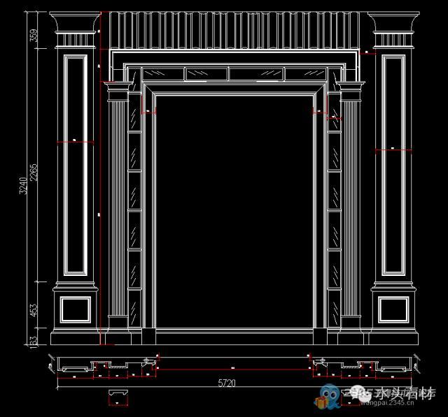 沈陽電腦培訓學校石材背景墻cad設計圖大全