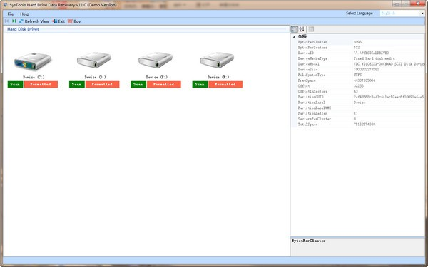 SysTools Hard Drive Data Recovery下载