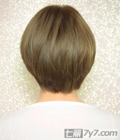 青棕色头发图片效果图